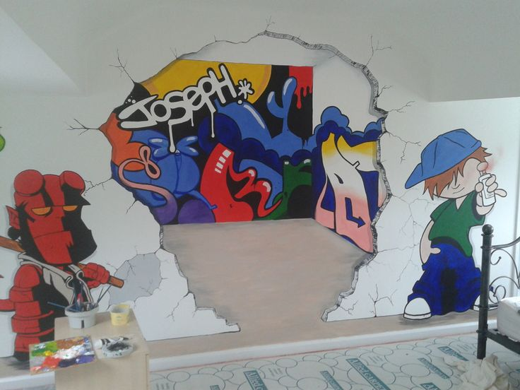 Exceptional Hand Painted Wall Murals Stencils For Kids Room Part 21