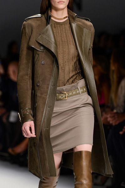 rich brown leather+taupe...