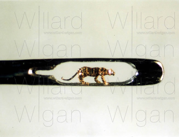 Willard Wigan's micro art is, well, tiny and awesome!