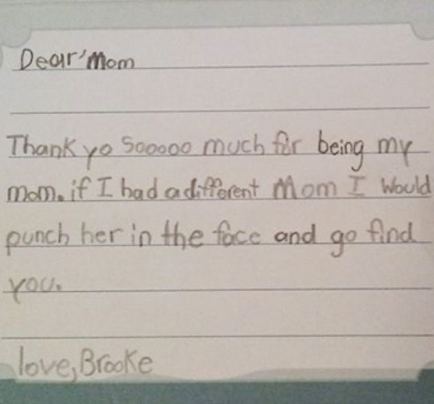 Funny Kid Letter This reminds me of something my Brooke would say
