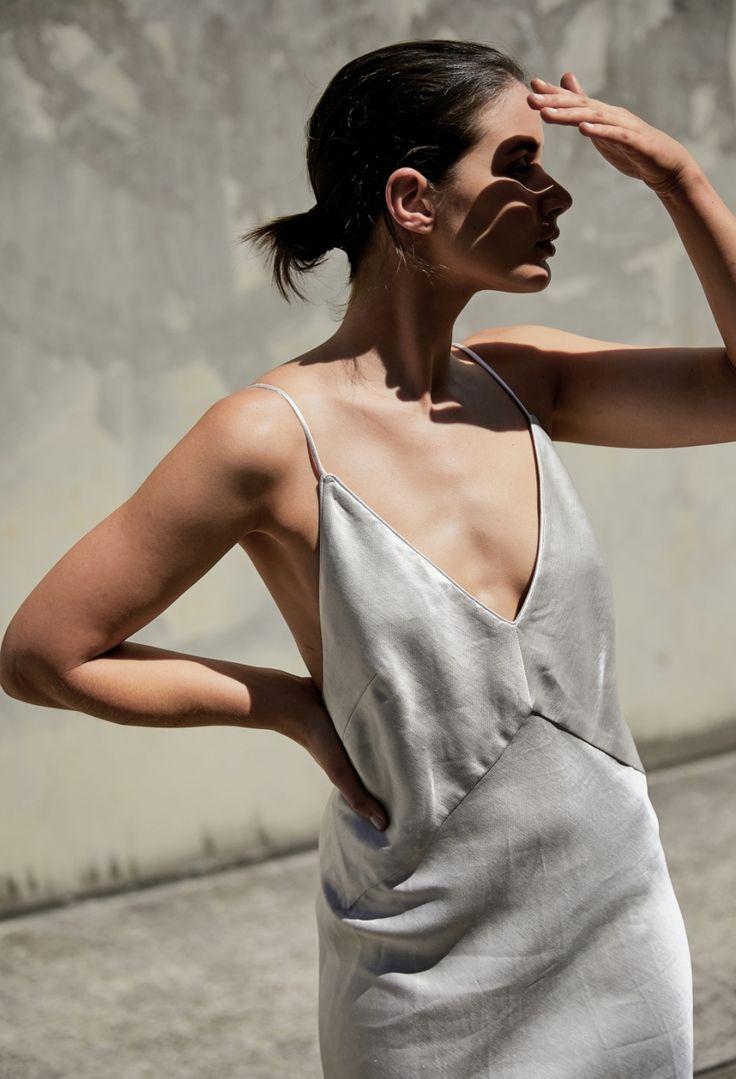 Christopher Esber Silver Maxi Slip Dress | Outfit | Style | HarperandHarley