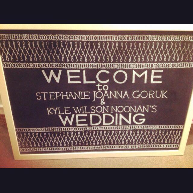 Wedding Chalkboard by Dayna Vago Designs