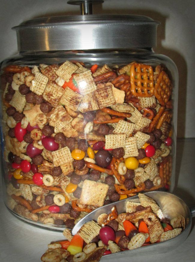 Sweet & Salty Fall munch....maybe not so healthy, but it was the only place to put it. :)