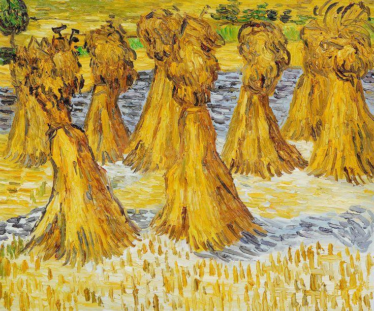 sheaves of wheat josephs dream van goghs