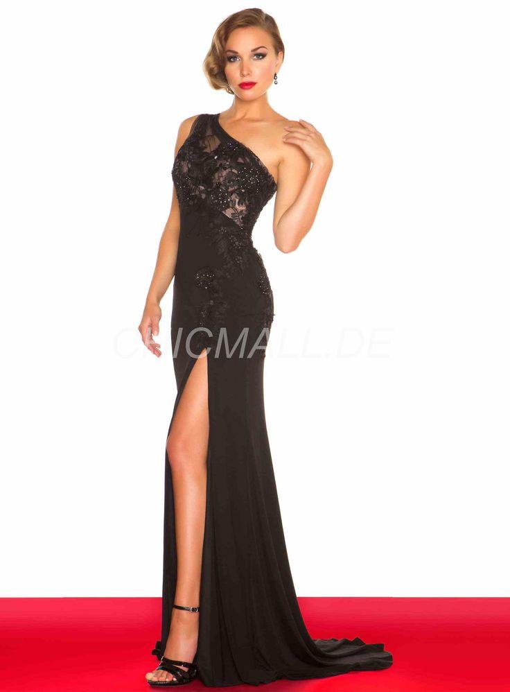 Chicmall.de delivery sheath / column unique shoulder strait train evening dress Long evening dresses
