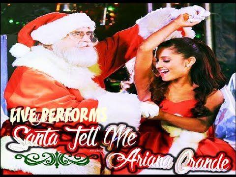 Ariana Grande - Live Performs ''Santa Tell Me'' ( NEW Christmas Song )  ►HD