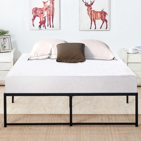 Metal Platform Bed Frame With Storage No Headboard Mattress