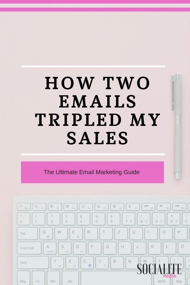 How two emails tripled my sales.Use our simple email marketing layout for your business.
