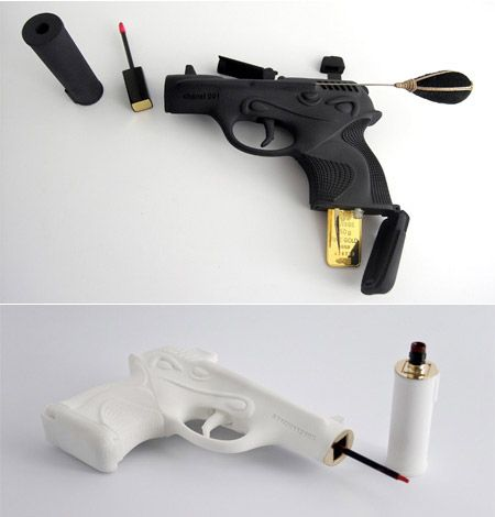Oh my goodness i want i want!!! Make up kits in guns by Chanel