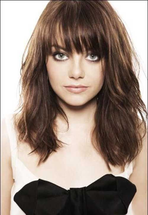 new long haircut best 25 bangs hairstyles ideas on bangs 6294 | f576e0bf9ef5f9e0ee27636955e3fcfa emma stone bangs blunt fringe