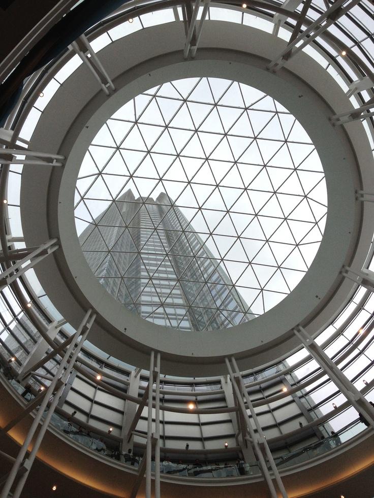 Downtown OKC Architecture- Devon Tower seen through the rotunda.