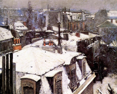Gustave Caillebotte, Rooftops Under Snow