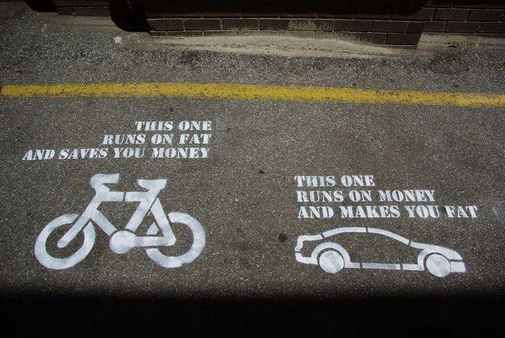 Car Vs Bike: Truths Hurts, Riding A Bike, Street Art Utopia, Telling The Truths, Cars, Interval Training, True Stories, Bicycle, Streetart