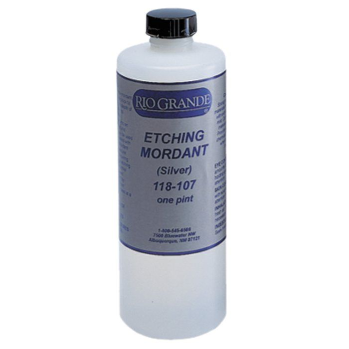 Etching mordant for silver