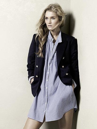 Zara Spring 2010 - shirt dress - Blue