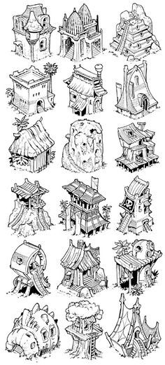 Various quick building sketches