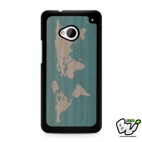 World Map Siluet HTC G21,HTC ONE X,HTC ONE S,HTC M7,M8,M8 Mini,M9,M9 Plus,HTC Desire Case
