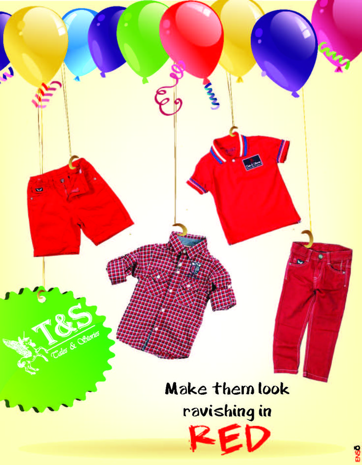 Add a #ravishing style with #red #apparels for #kids.... Choose from >>> http://talesandstories.com/