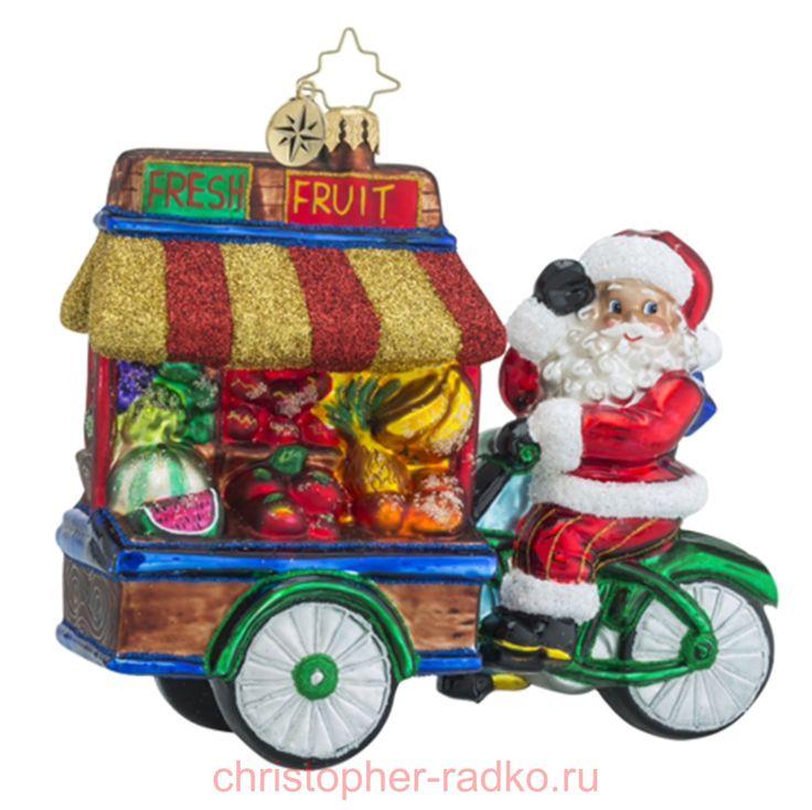 Ёлочная игрушка Свежие фрукты арт.1018496