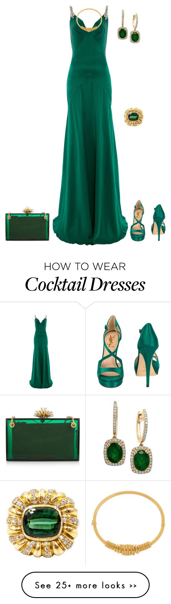 """outfit 2367"" by natalyag on Polyvore featuring Temperley London, Yves Saint Laurent, Effy Jewelry, Charlotte Olympia and Chloé"
