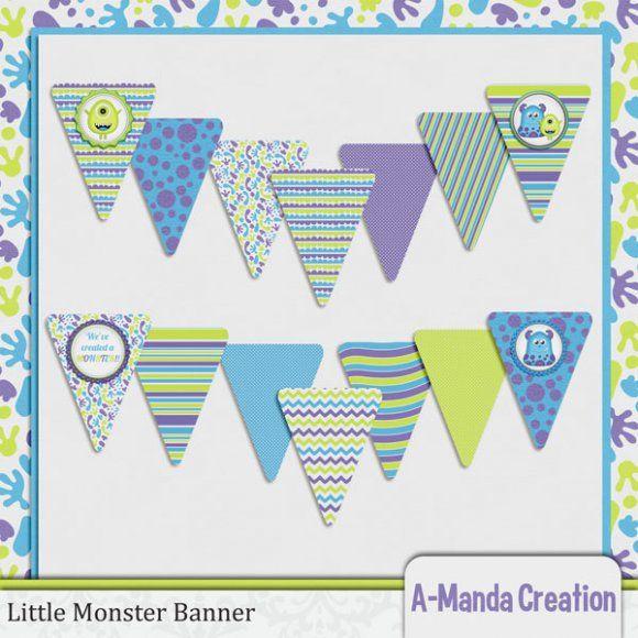 Little Monster Baby Shower Banner Party Ideas