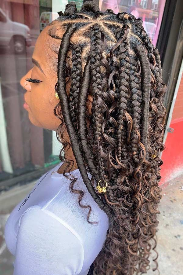 23 African Hair Braiding Styles We Re Loving Right Now Hania Style In 2020 Braids With Curls African Hair Braiding Styles Hair Styles