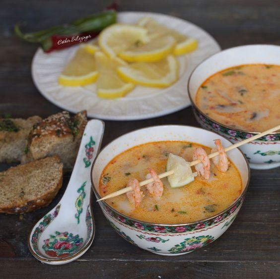 Полезный острый суп Том Кха с креветками   Рецепты правильного питания - Эстер Слезингер
