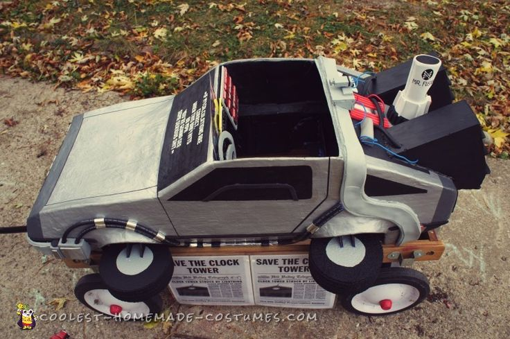 Awesome Homemade Back to the Future Doc Brown and Delorean Costume...
