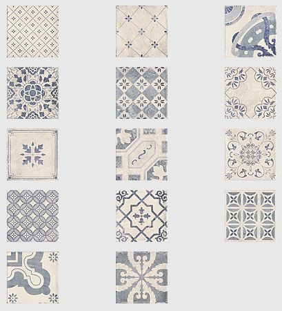 Parisian Chic Decor Mix Wall Tile 20x20cm - Tons of Tiles - Metro Tiles, Tile Adhesive, Tile Grout,