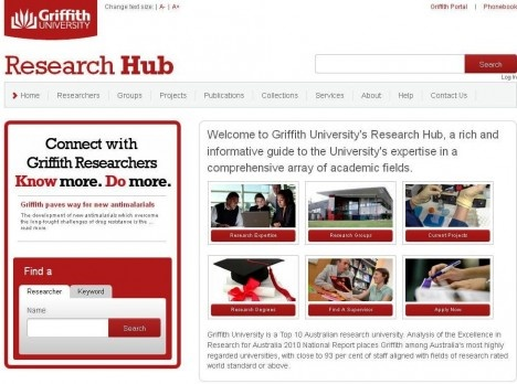 Congratulations to the team bheind the scences developing the Griffith University Research Hub, which has recently received international recognition.