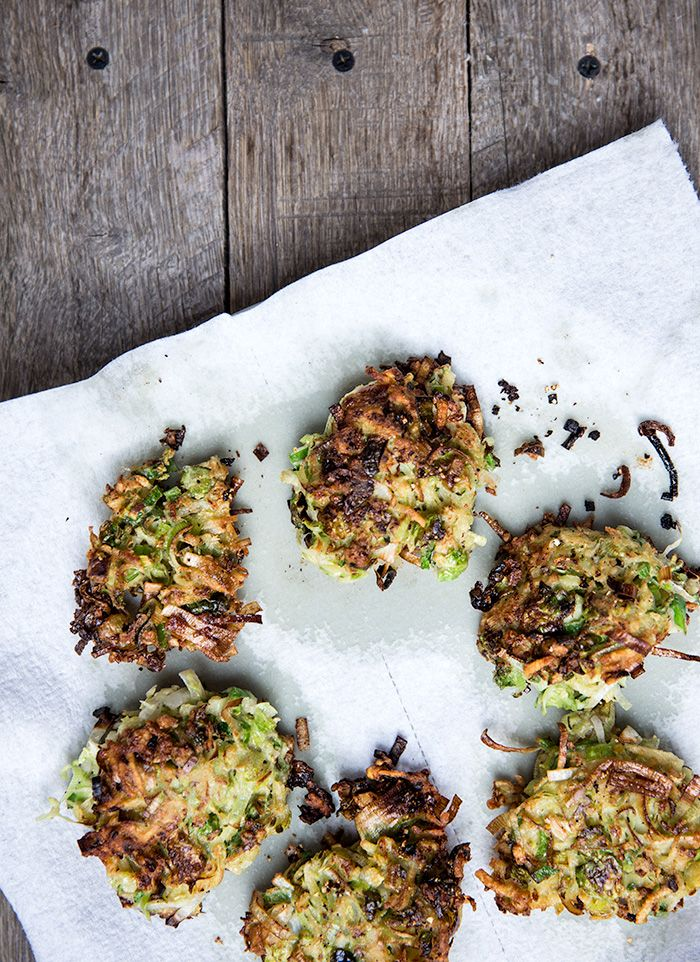 brussels sprouts latkes / what's cooking good looking