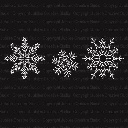 Snowflakes Iron On Rhinestone Transfer $5.99