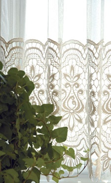 Allium - Macrame curtain lace by Heritage Lace