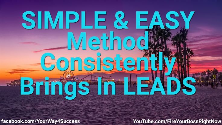 SIMPLE & EASY Online Marketing Method Consistently Brings In LEADS -- http://www.YourWay4Success.com -- Simple & Easy Online Marketing Method Consistently Brings In Leads  GOT A SMART PHONE? Let's make you some money. Read everything here: http://Text2Cas