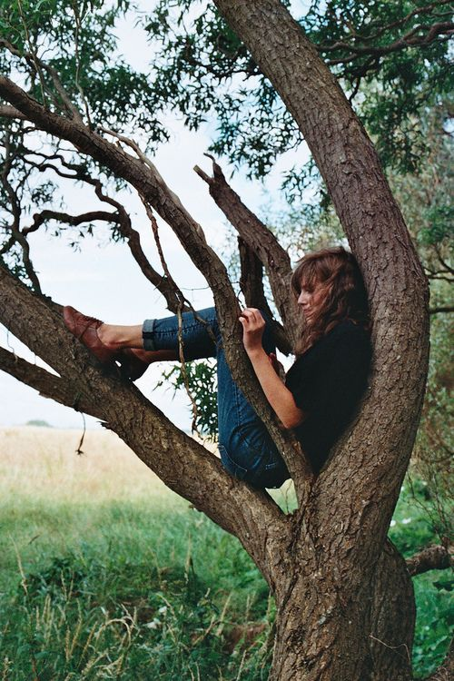 Me for many years of my childhood.....in a tree