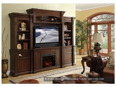 shop for legends furniture berkshire fireplace wall console zgb1960 and other accessories