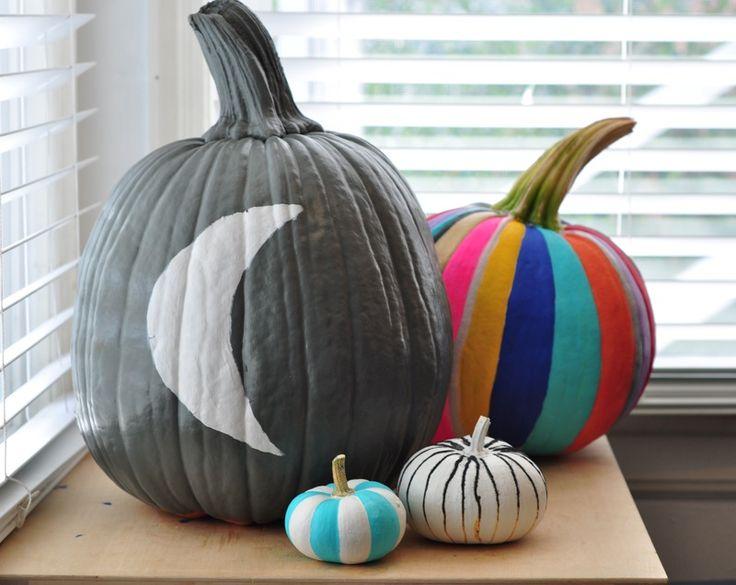 painted pumpkins - Halloween Pumpkins Painted