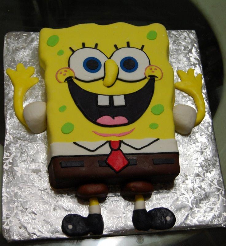 Marshmallow Fondant Spongebob Cake