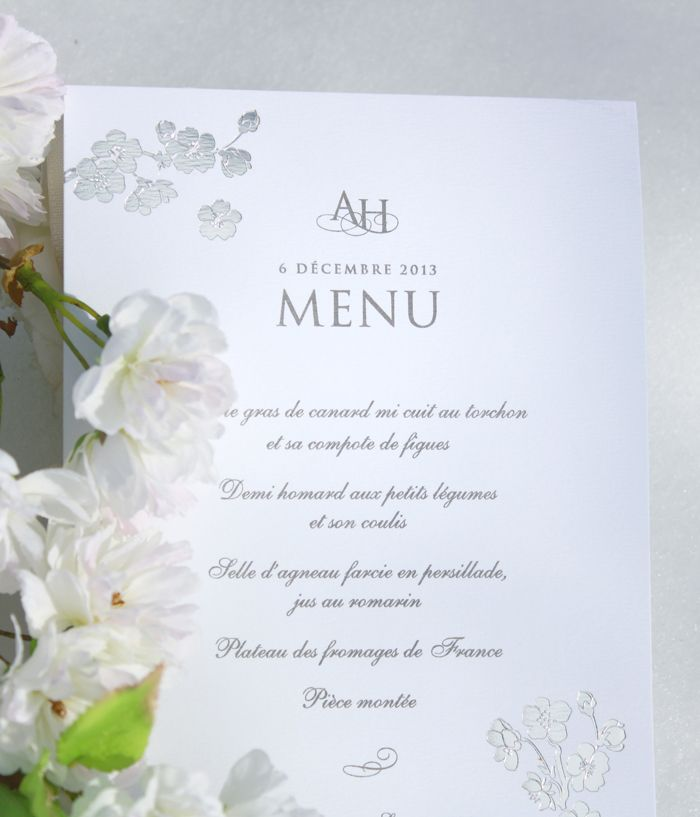 Menu Collection Printemps Argent / Blanc www.dancourt.net