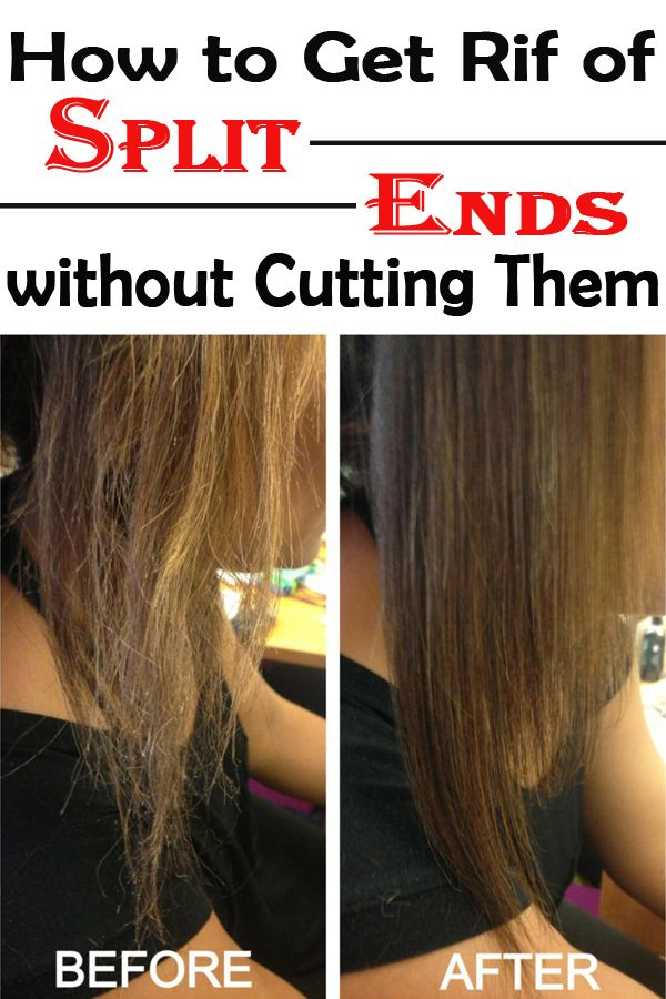 How to Get Rid of Split Ends without Cutting Them