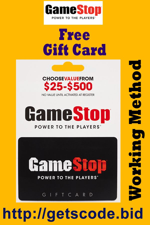 How To Get Free Gamestop Gift Cards Gamestop Gift Card Codes