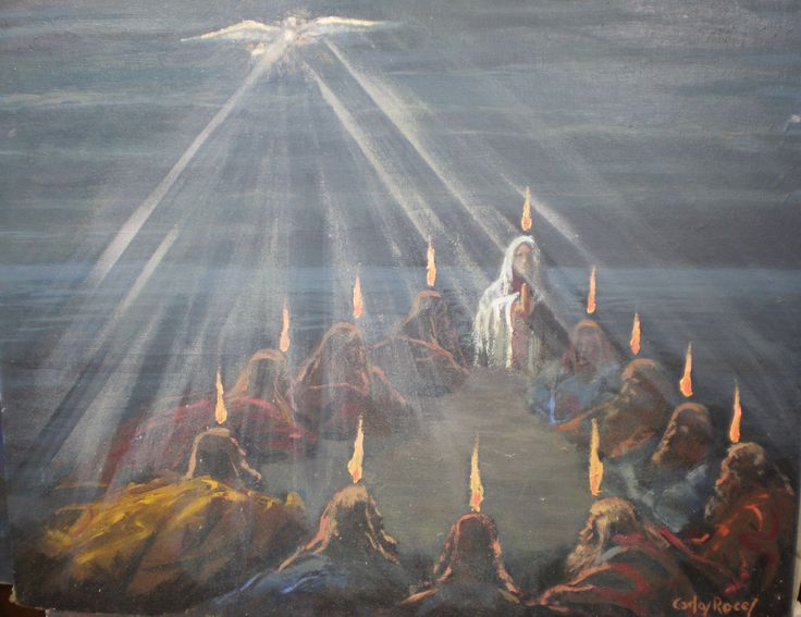 PENTECOST- They saw what seemed to be tongues of fire that ...