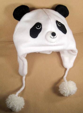 Panda Bear Fleece Aviator Hat - Favors @Lisa Luciani Reichgut?