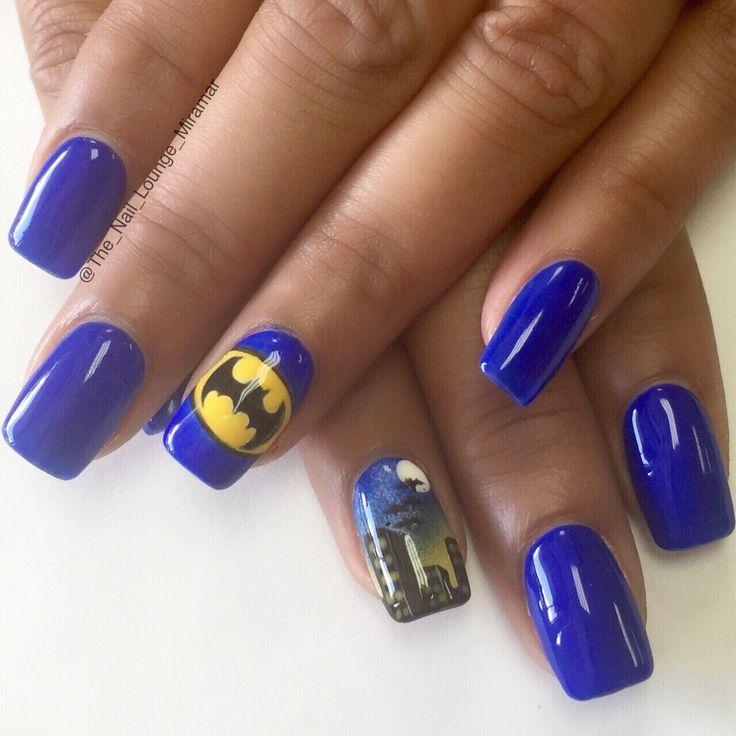 Batman nail designs pinterestte batman trnaklar trnaklar ve batman nail art design prinsesfo Image collections