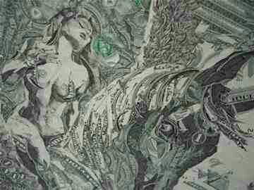 Money art with a dash of sexy...