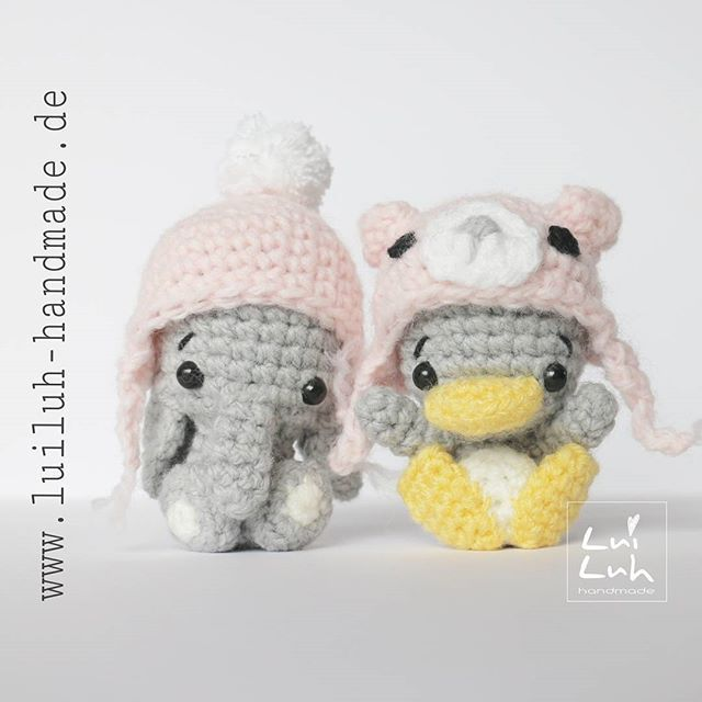 "Free woolly hat pattern for your ""LuiLuh-baby-elephant"" now on www.luiluh-handmade.de  Die kostenlose Anleitung für die Wollmützen für euren ""LuiLuh-baby-elephant"" gibt es ab jetzt auf www.luiluh-handmade.de   #amigurumi #crochet #häkeln #häkelnisttoll #amigurumifreepattern #freecrochetpattern #freeamigurumipattern #elephant #elefant #cute #cutie #crochetersofinstagram #yarn #wool #kawaii #kawaiicrochet #bagcharm #miniature"