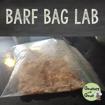 "Your students will be talking about this lab for years to come! Not really ""barf"", but the mixture of cereal, yeast, and water sure looks like it when the sandwich bag bursts open!"