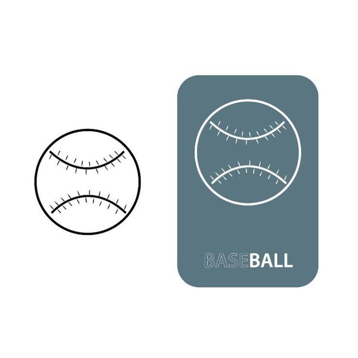 "72 Likes, 4 Comments - Adam Campbell-Olszewski (@acographic) on Instagram: ""Baseball | Icons --- #mobile #design #illustration #vector #webdesigner #concept #vectorart…"""