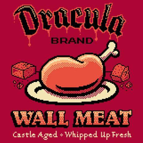 #Konami: #Castlevania: #Dracula Brand Wall Meat t-shirt.