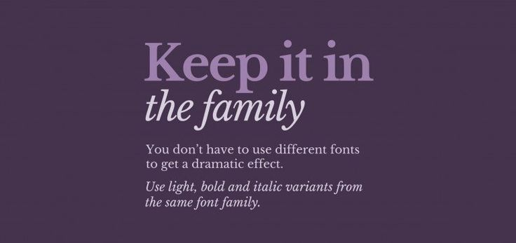 keep_it_in_the_family.   Epic Design Tips for Non-designers